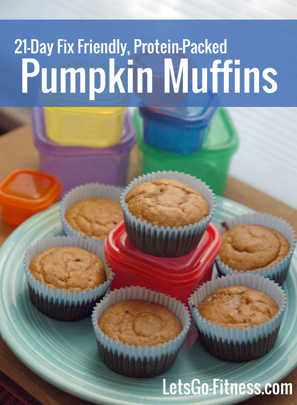 21-Day Fix Friendly Protein-Packed Pumpkin Muffins