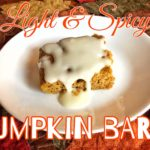 Light and Spicy Pumpkin Bars